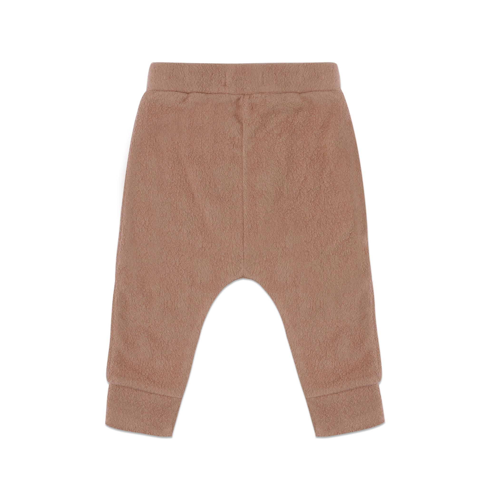 Teddy baby harem pants - creamy mocha-3