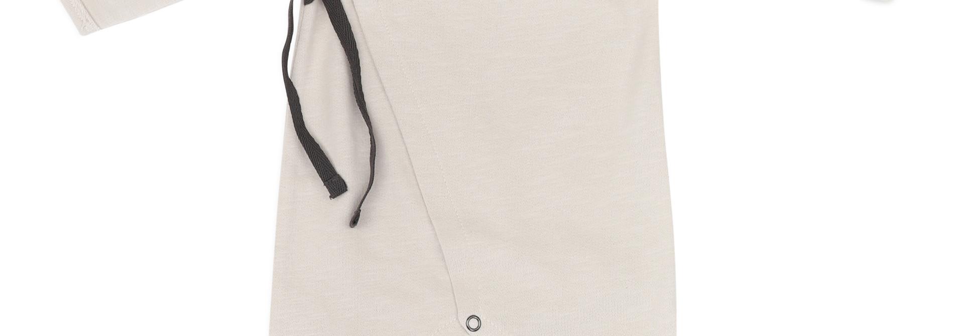 Cross-over newborn suit - Oatmeal