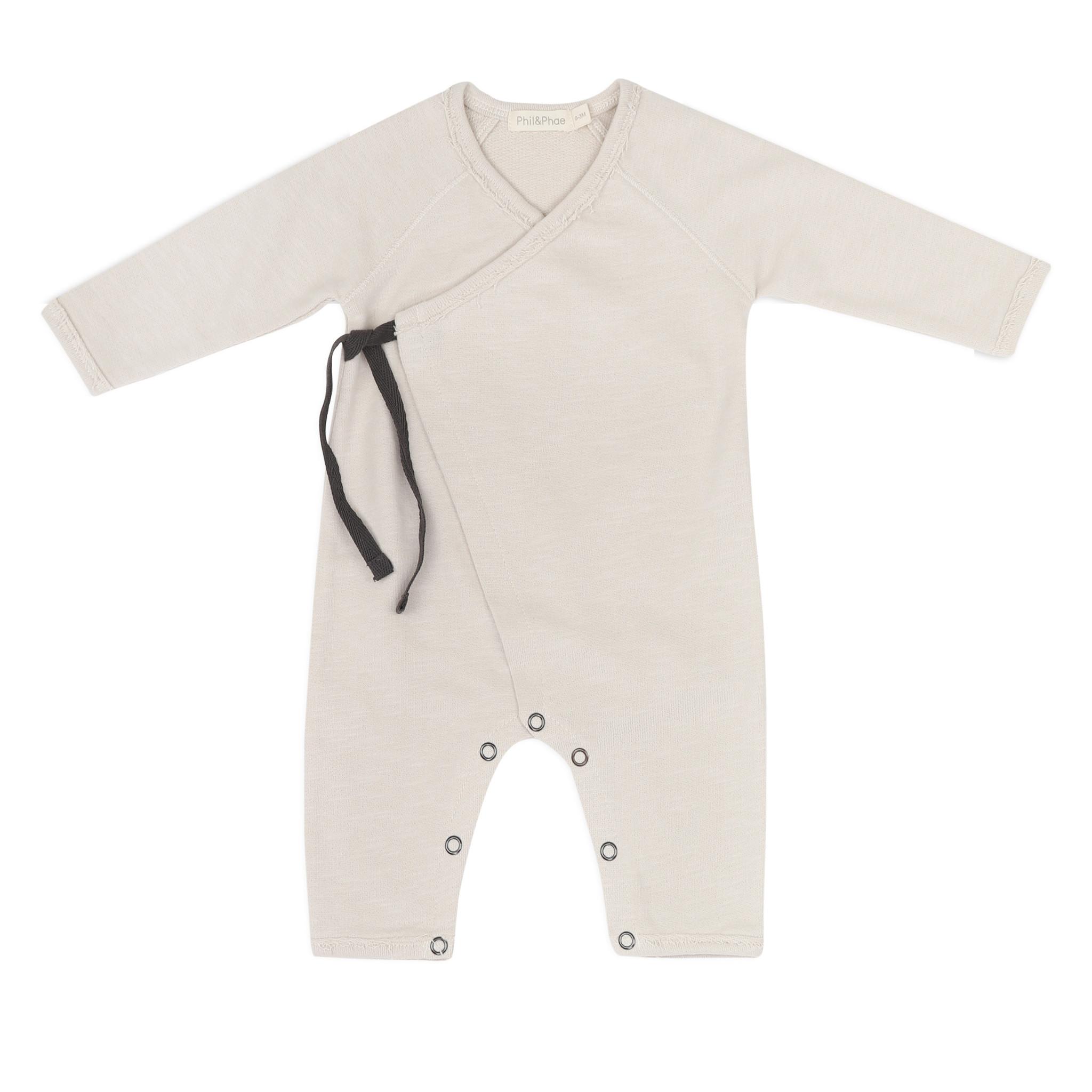 Cross-over newborn suit - Oatmeal-1