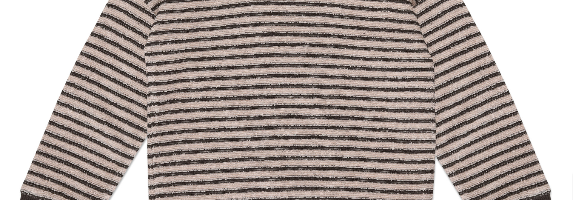 Baby sweater loopy stripes - Graphite