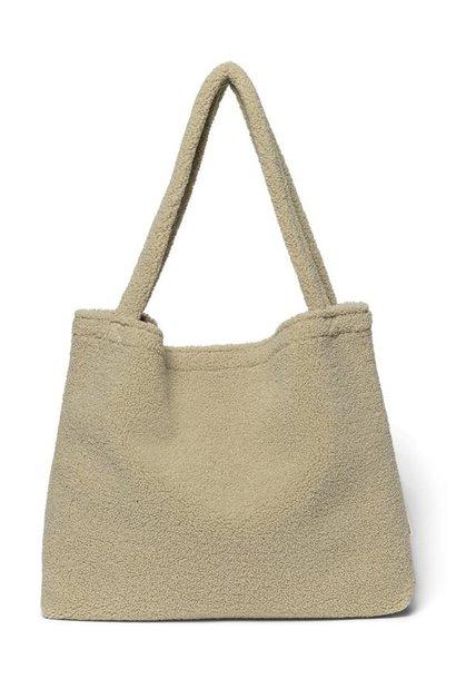 Pastel pistache teddy mom-bag