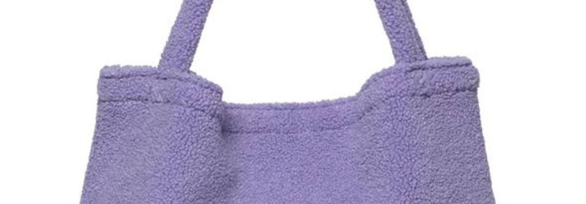 Pastel lilac teddy mom-bag
