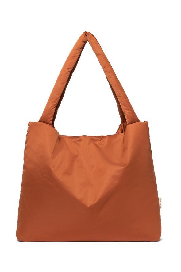 Rust puffy mom-bag-1