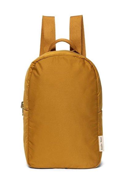 Ochre puffy backpack