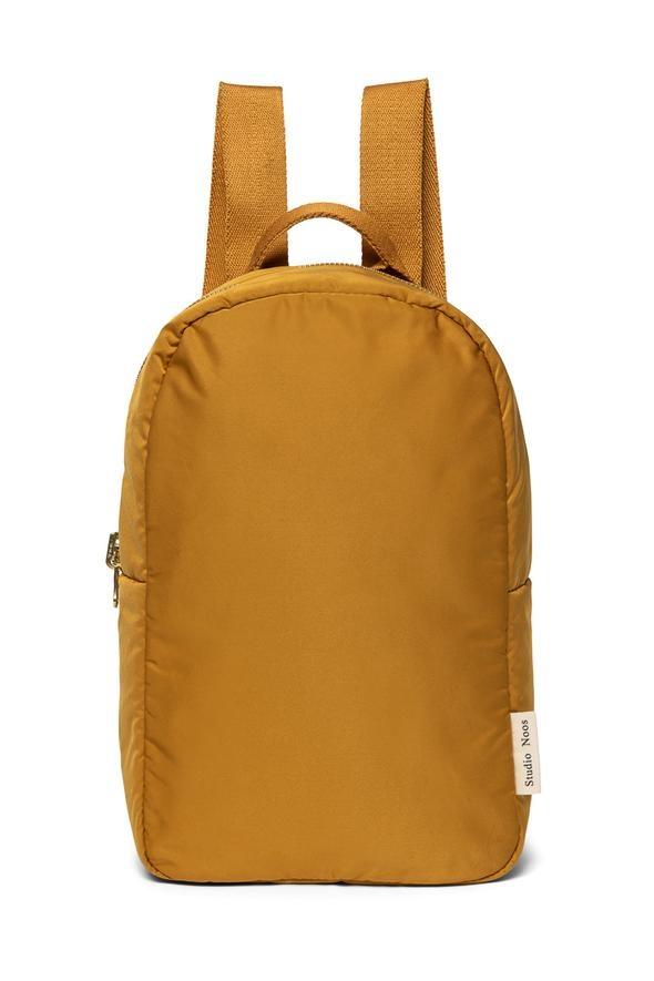 Ochre puffy backpack-1