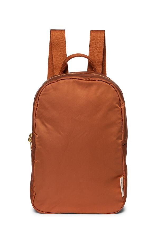 Rust puffy backpack-1