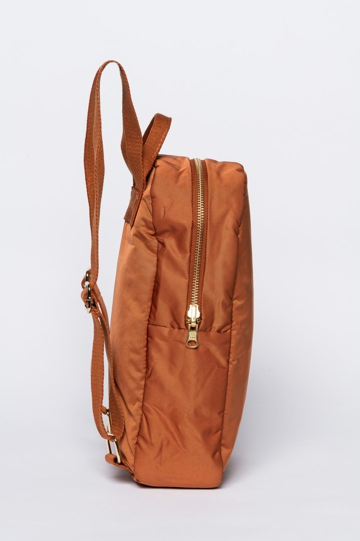 Rust puffy backpack-3