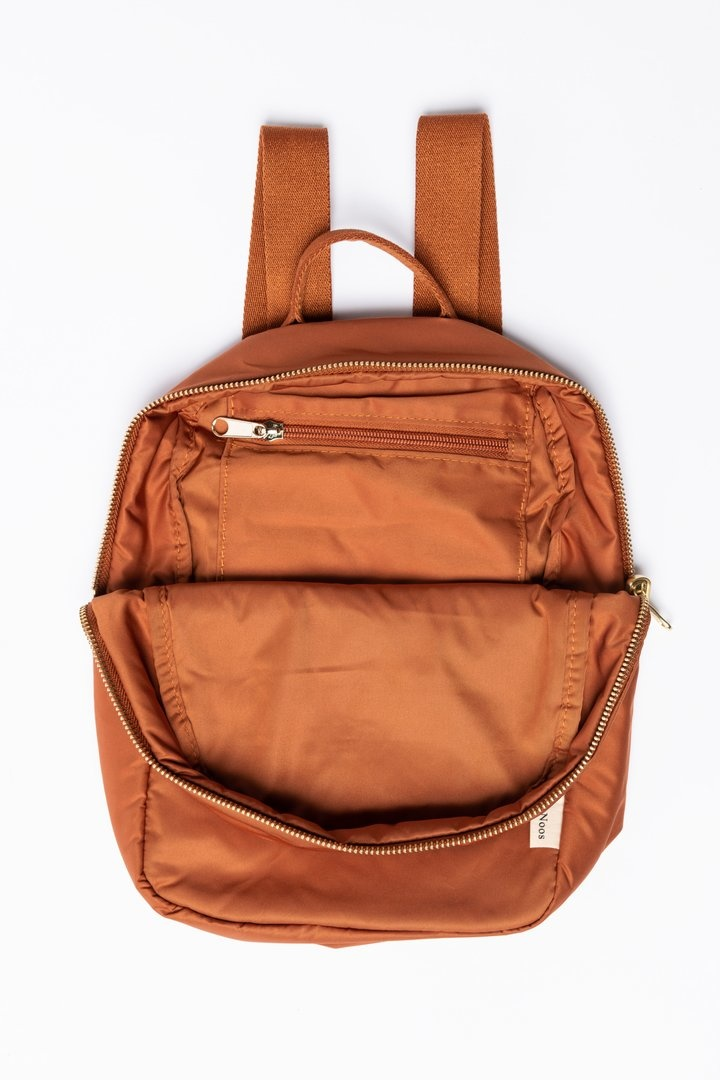 Rust puffy backpack-5