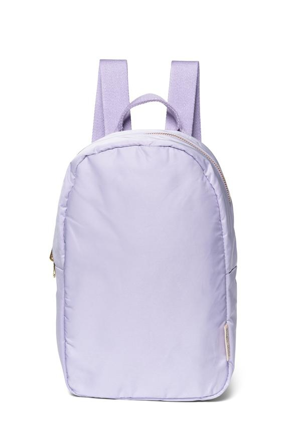 Lilac puffy backpack-1