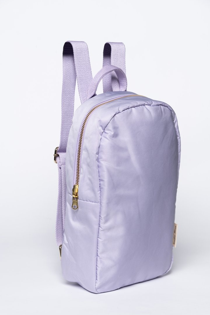 Lilac puffy backpack-2