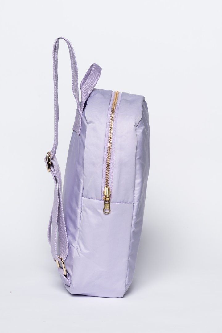 Lilac puffy backpack-3