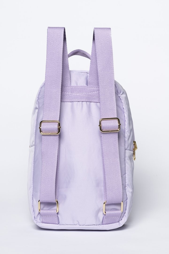 Lilac puffy backpack-4