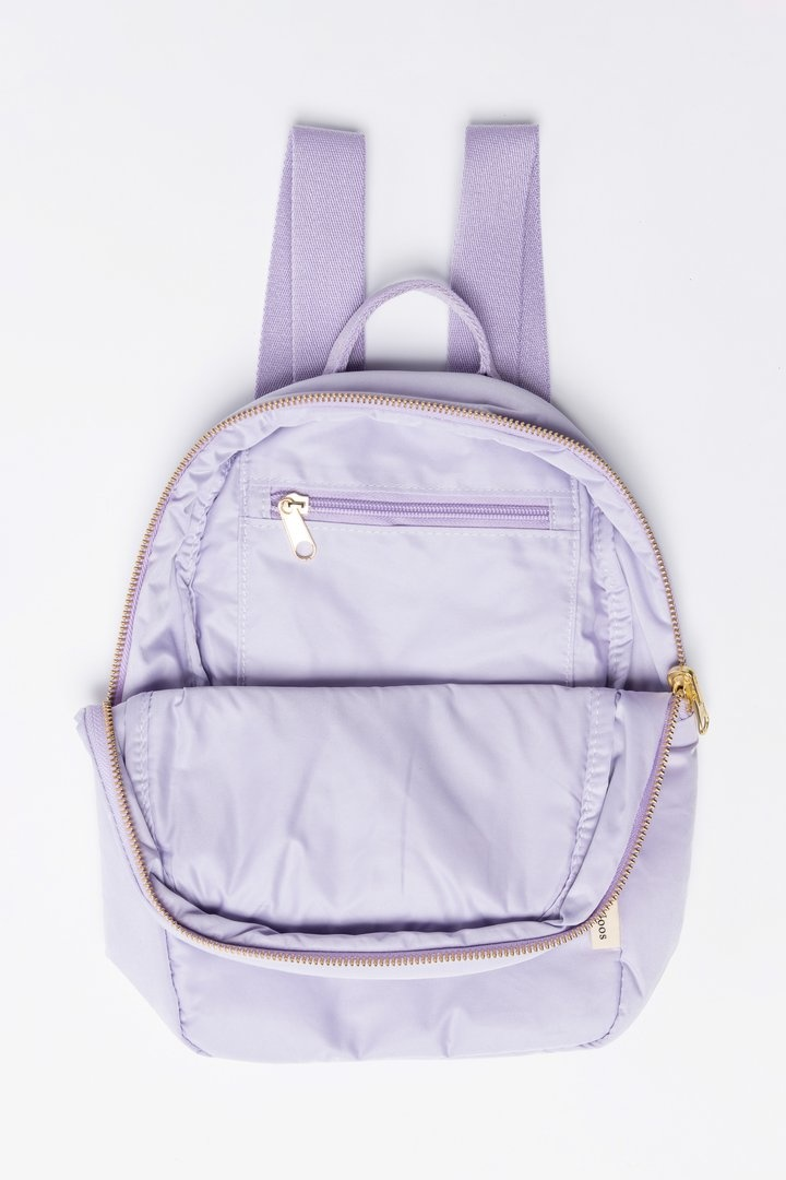 Lilac puffy backpack-5