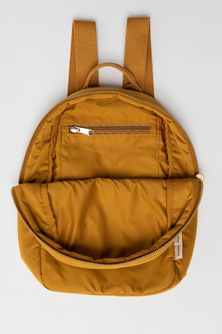 Ochre puffy backpack-5