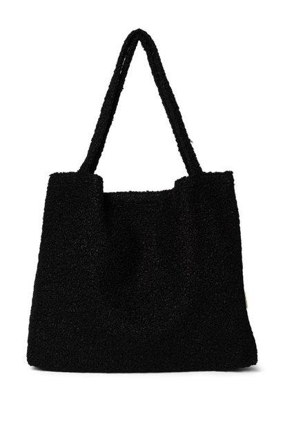 Black boucle mom-bag