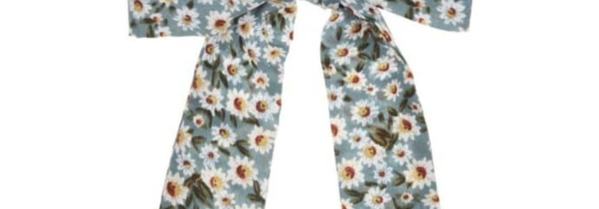 Floral scrunchie with tails