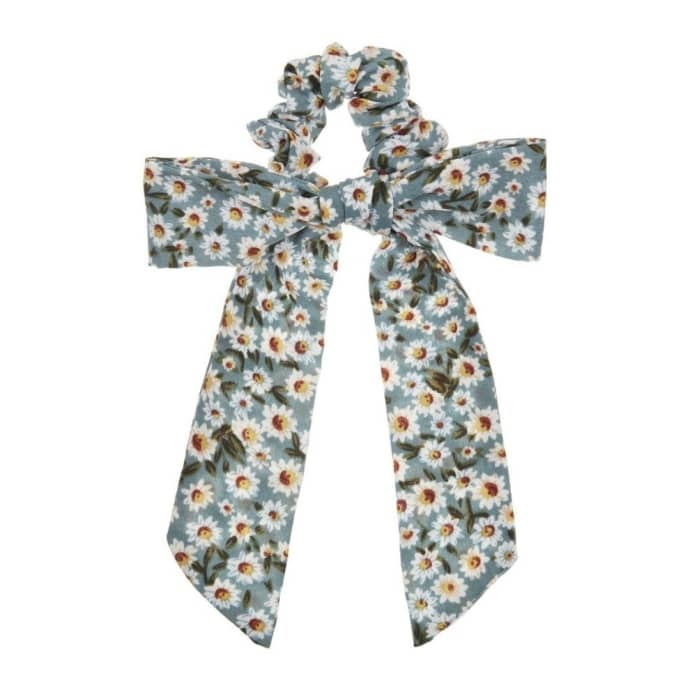 Floral scrunchie with tails-1
