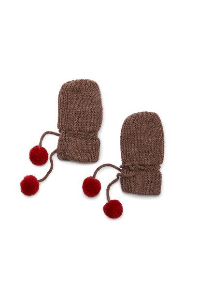 Miro knit mittens - Bunny brown melange