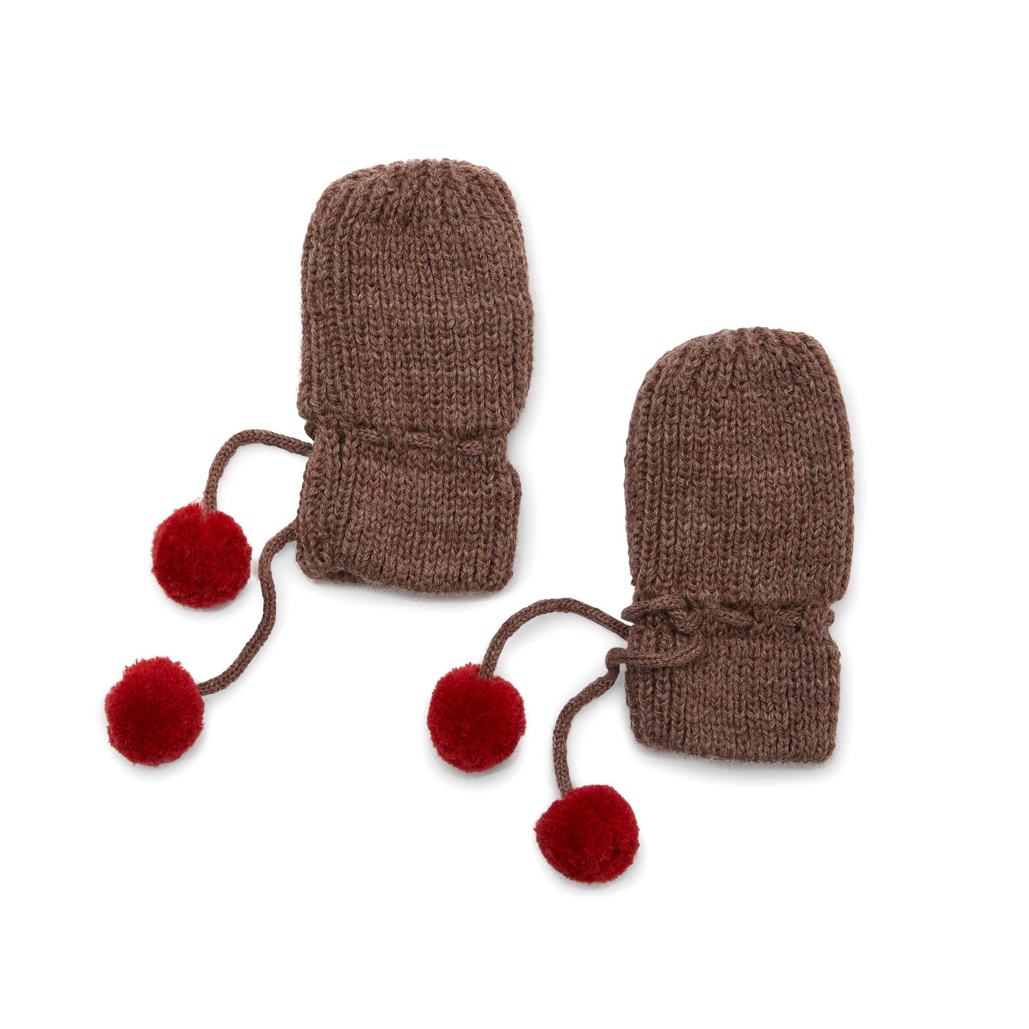 Miro knit mittens - Bunny brown melange-1