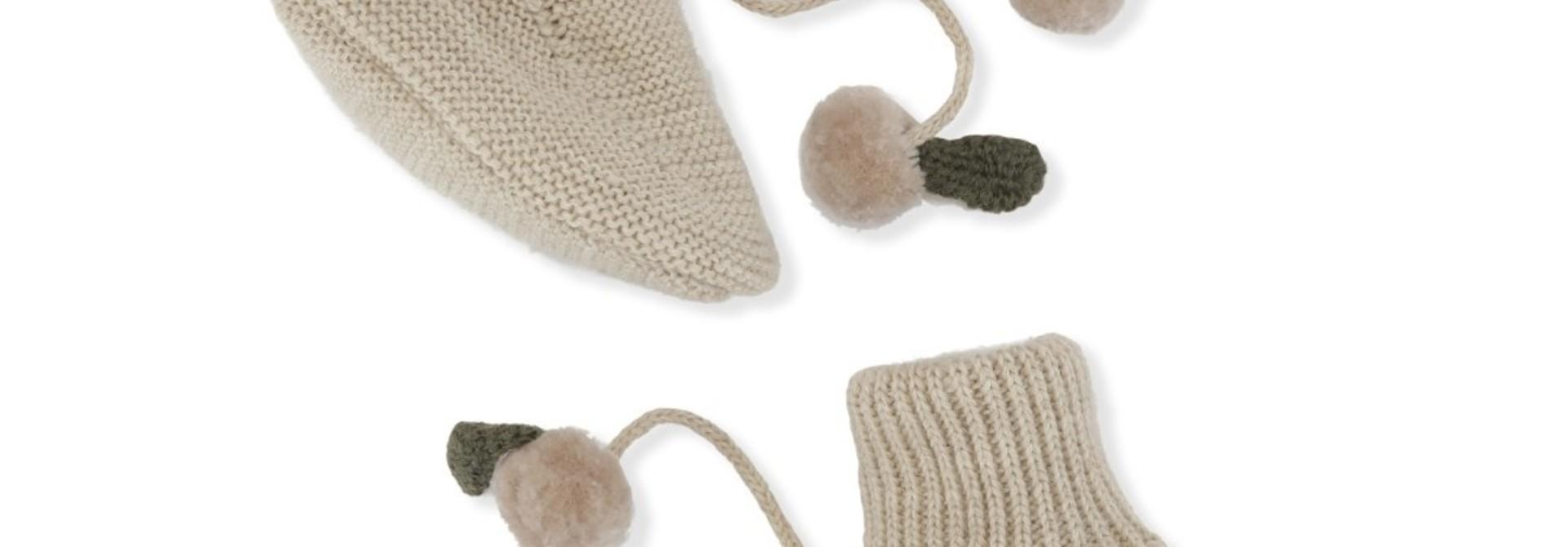 Miro knit boots - white cream melange