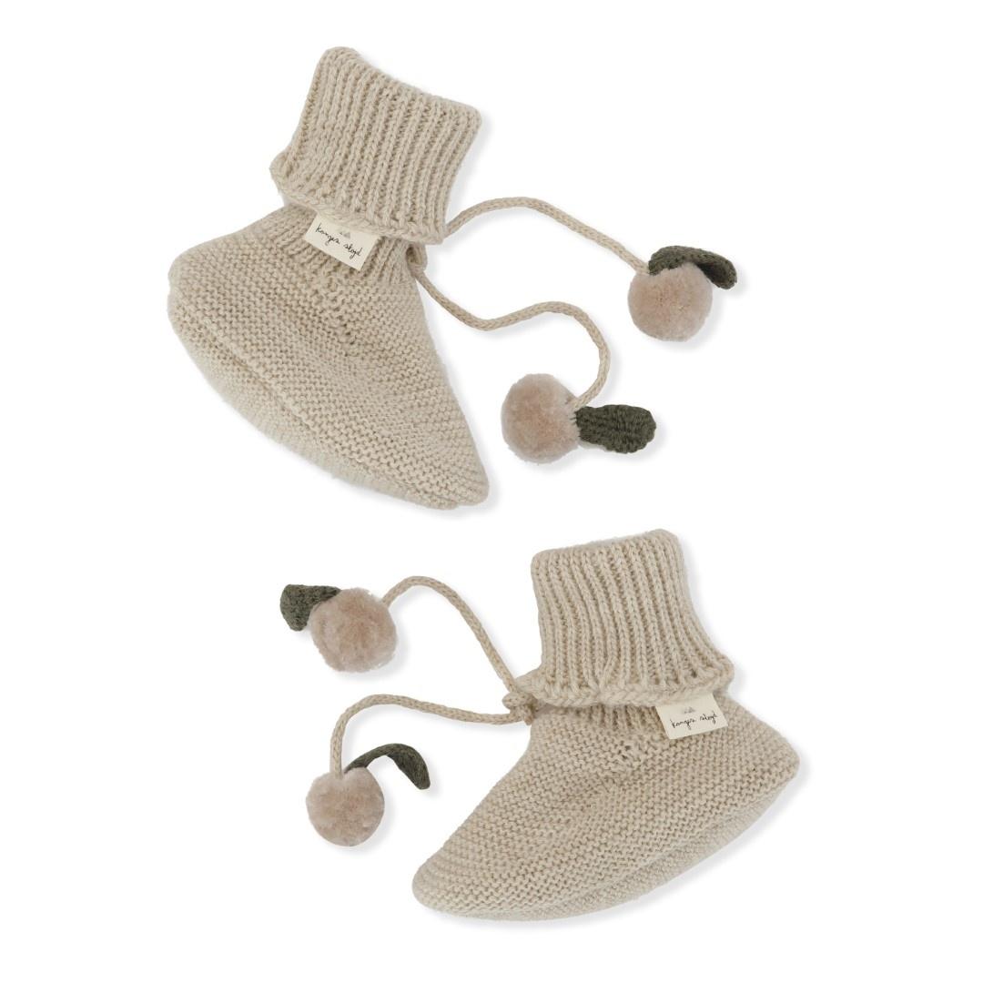 Miro knit boots - white cream melange-1