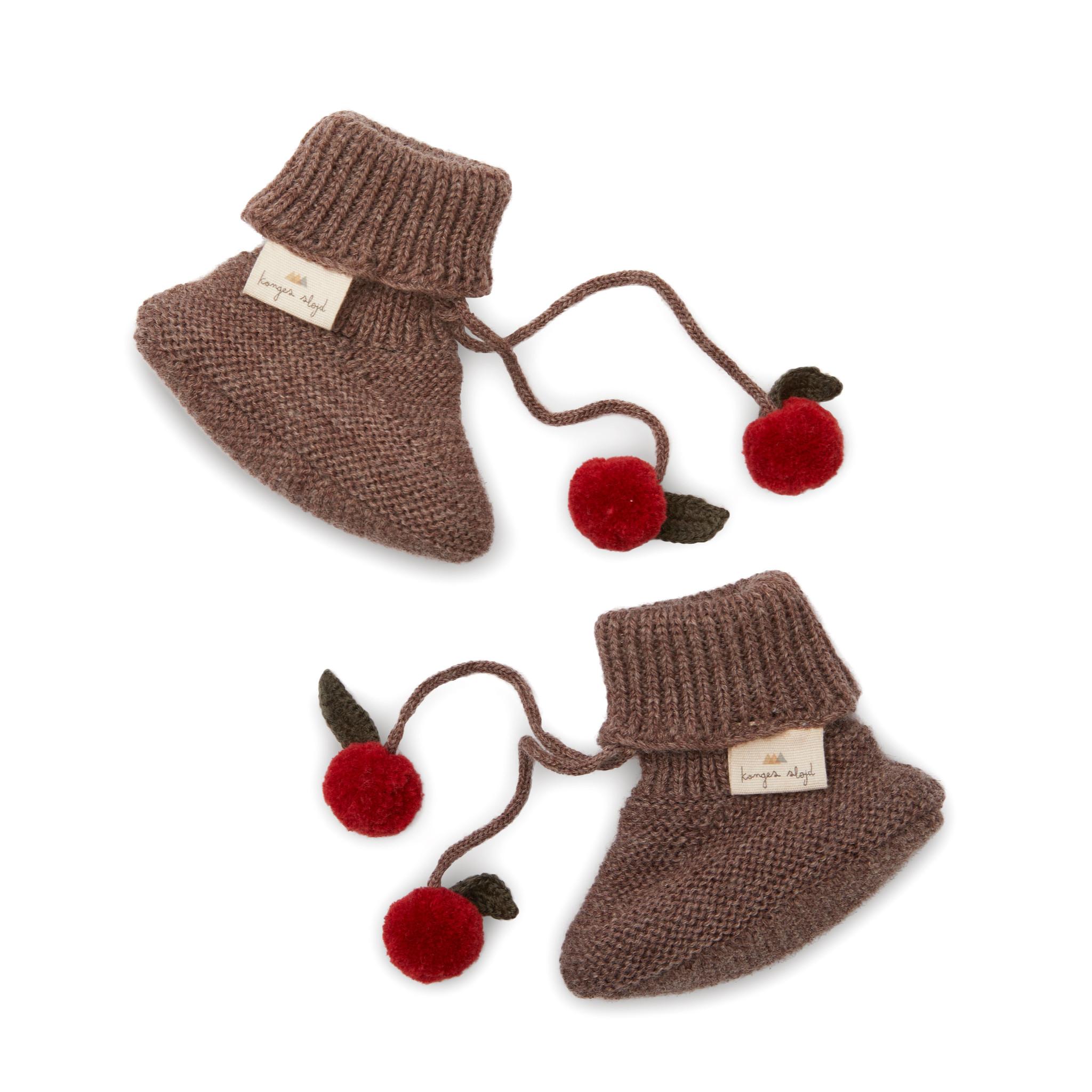 Miro knit boots - bunny brown melange-1