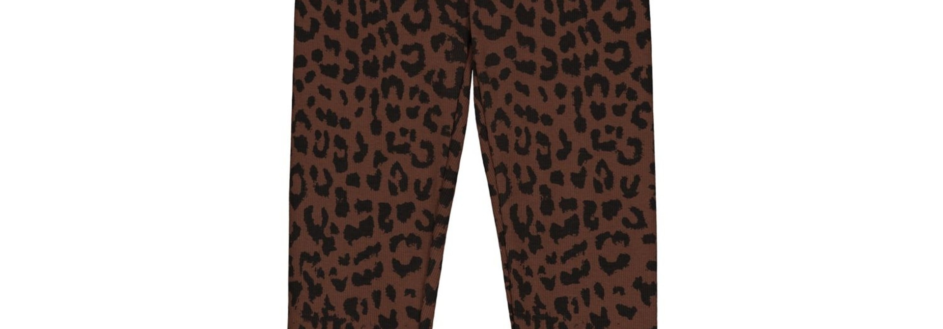 Leopard pants hickory brown