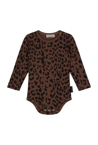 Leopard bodysuit hickory brown