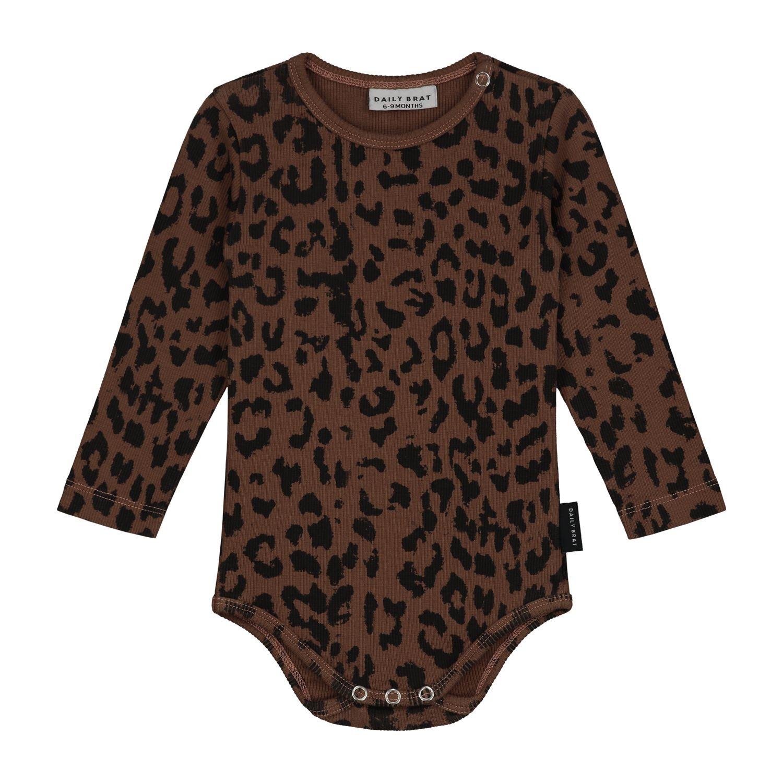 Leopard bodysuit hickory brown-1