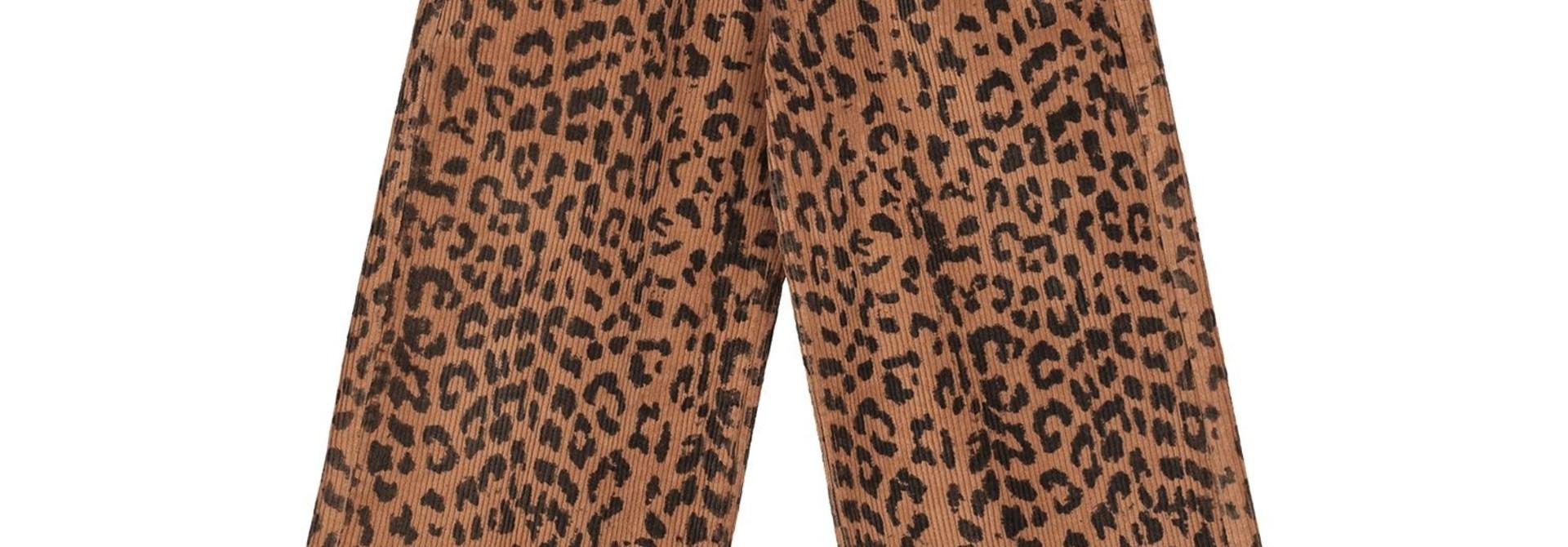 Bella  leopard corduroy pants  hazel