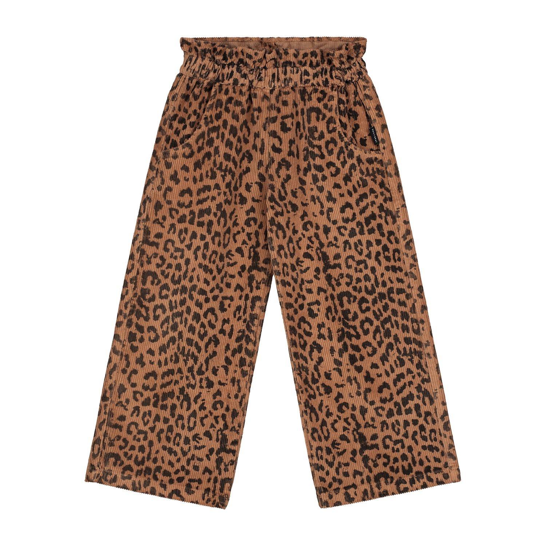 Bella  leopard corduroy pants  hazel-1
