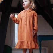 Lilyan dress hazel brown-2