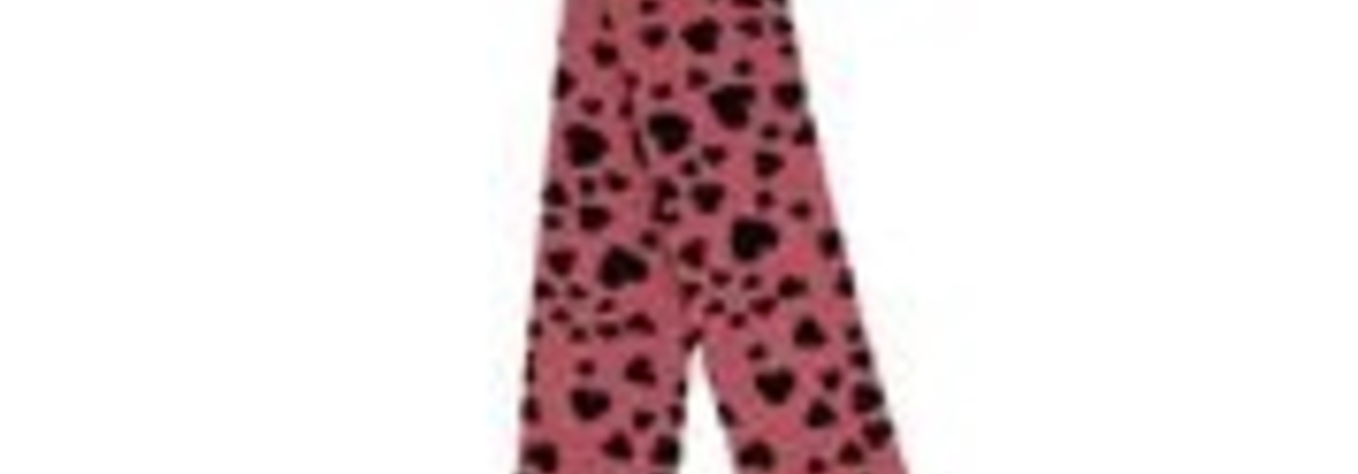 Heart tights happy pink