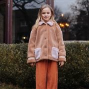 Parker teddy jacket camel-2