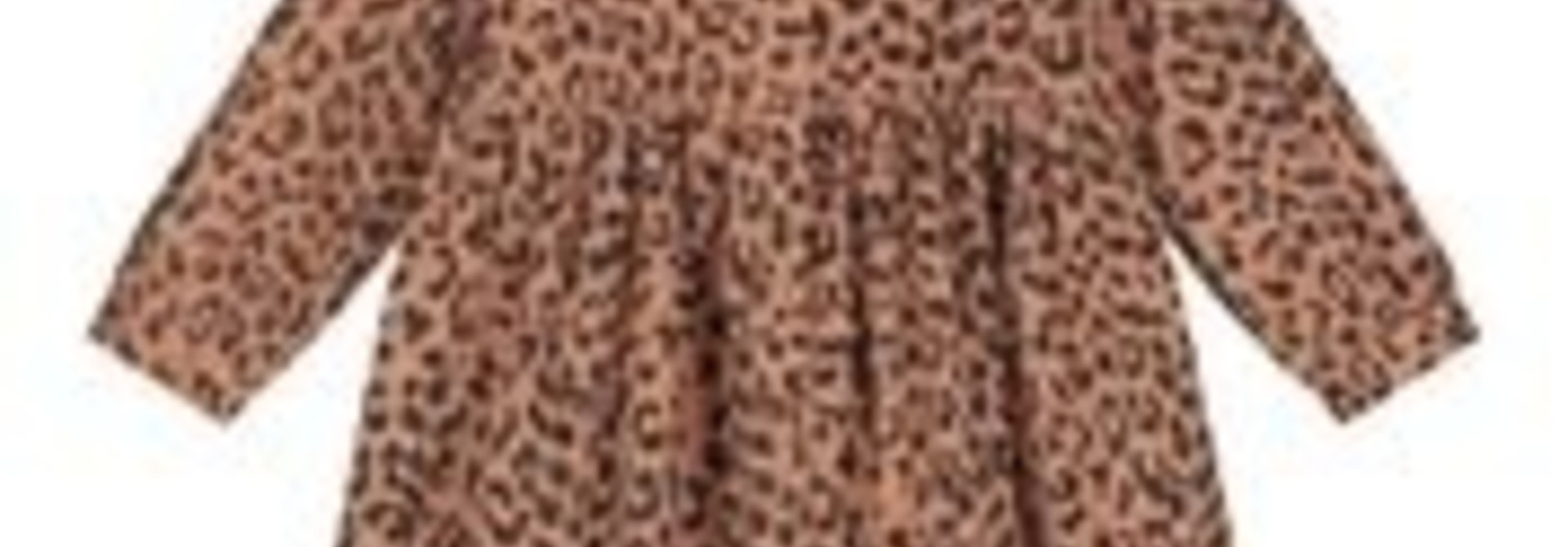 Brooke  leopard corduroy dress hazel