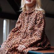Brooke  leopard corduroy dress hazel-2