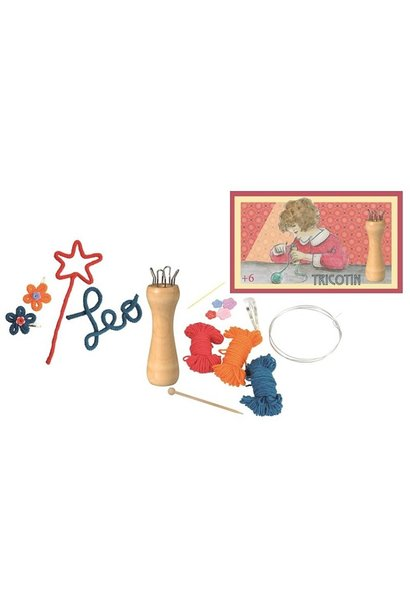 Wooden French knitting set