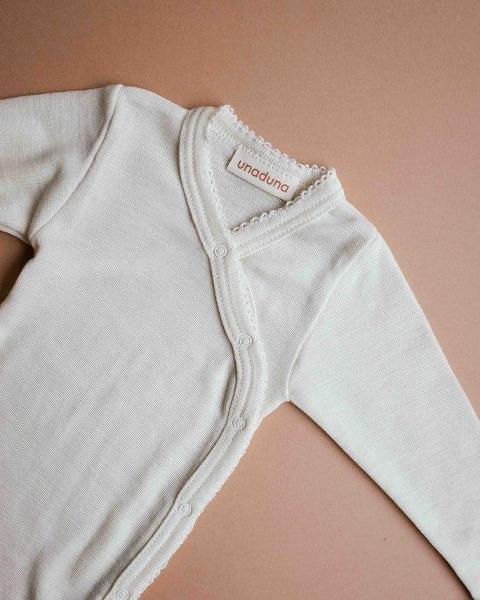 Wrap around baby body - naturel crochet edge-2