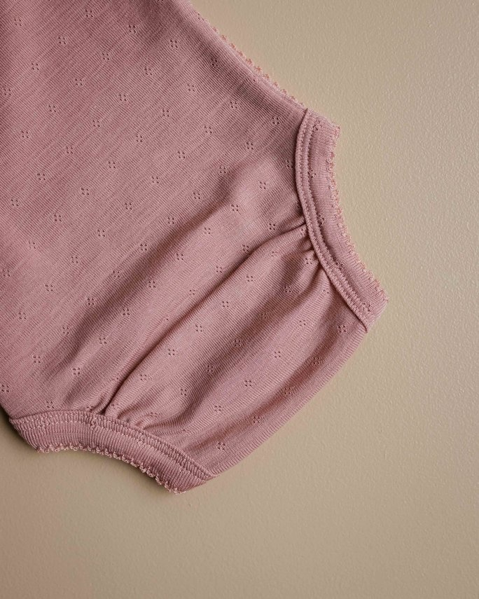 Wrap around baby body - pointelle cameo rose-2