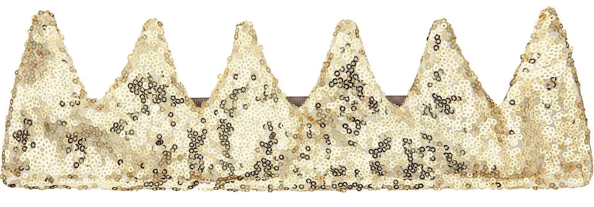 Sequin Crown-Gold