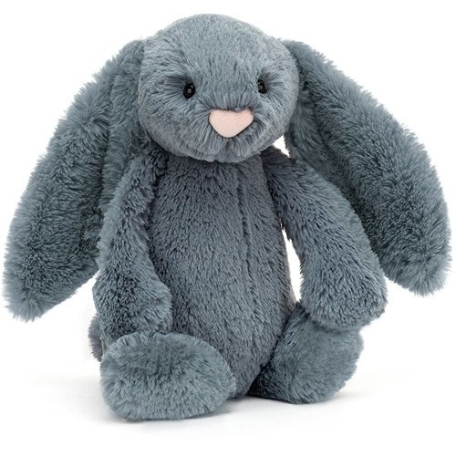 Medium Bashful Dusky Blue Bunny-1