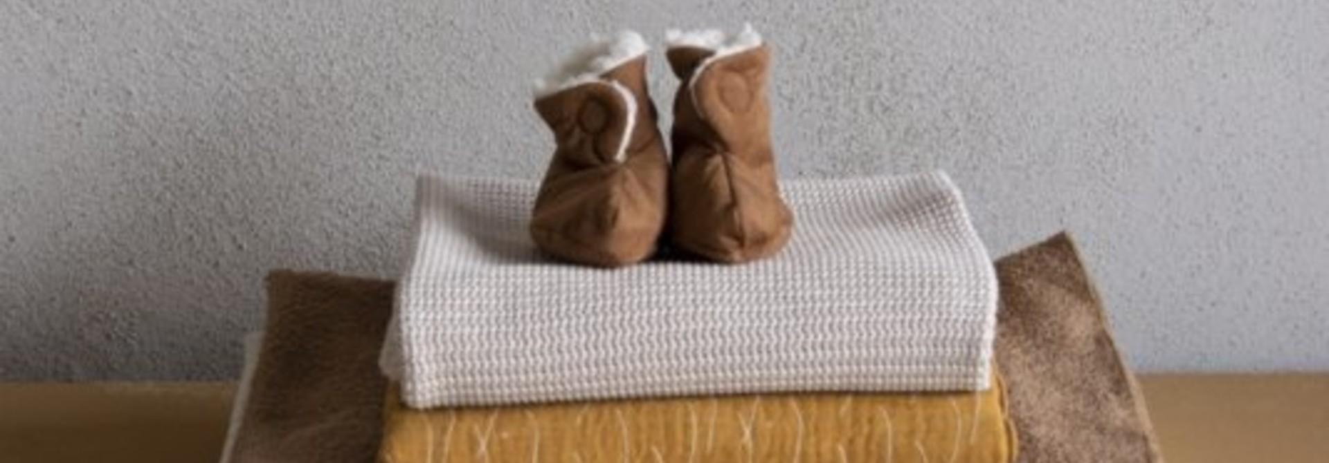 Newborn shoes 0-6M suede-teddy