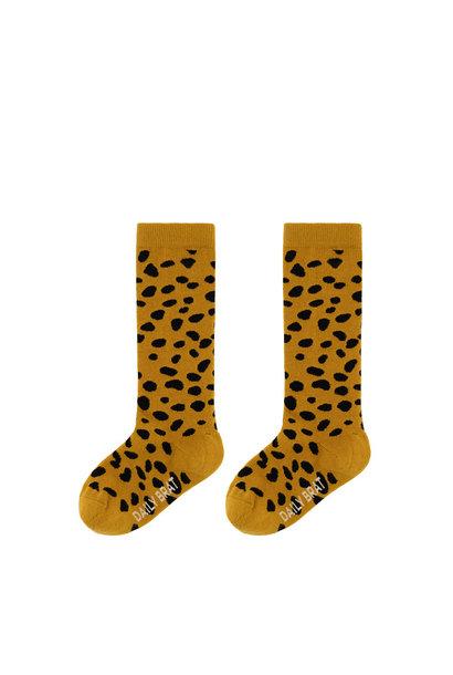 Knee socks golden stone