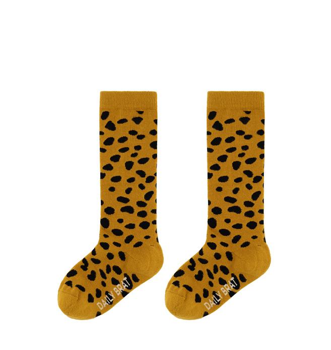 Knee socks golden stone-1