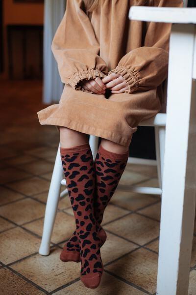 Knee socks brownie-2