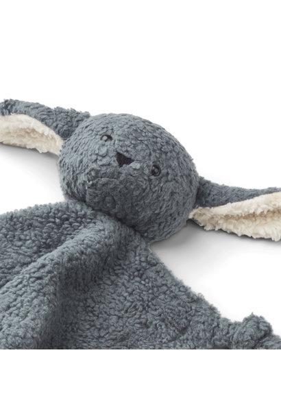 Lotte cuddle cloth - Rabbit whale blue