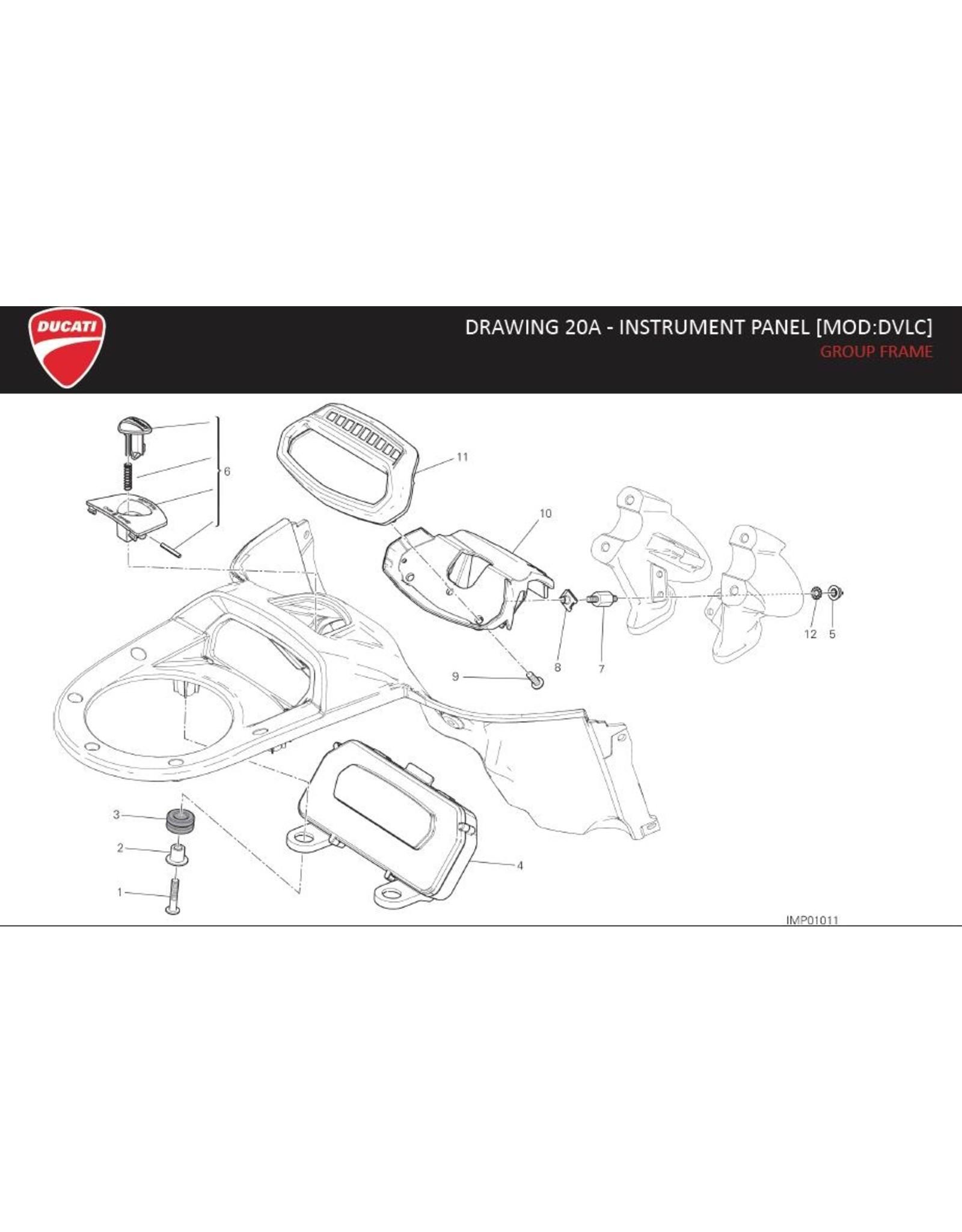 Ducati DUCATI INSTRUMENT PANEL TANK 40611093E