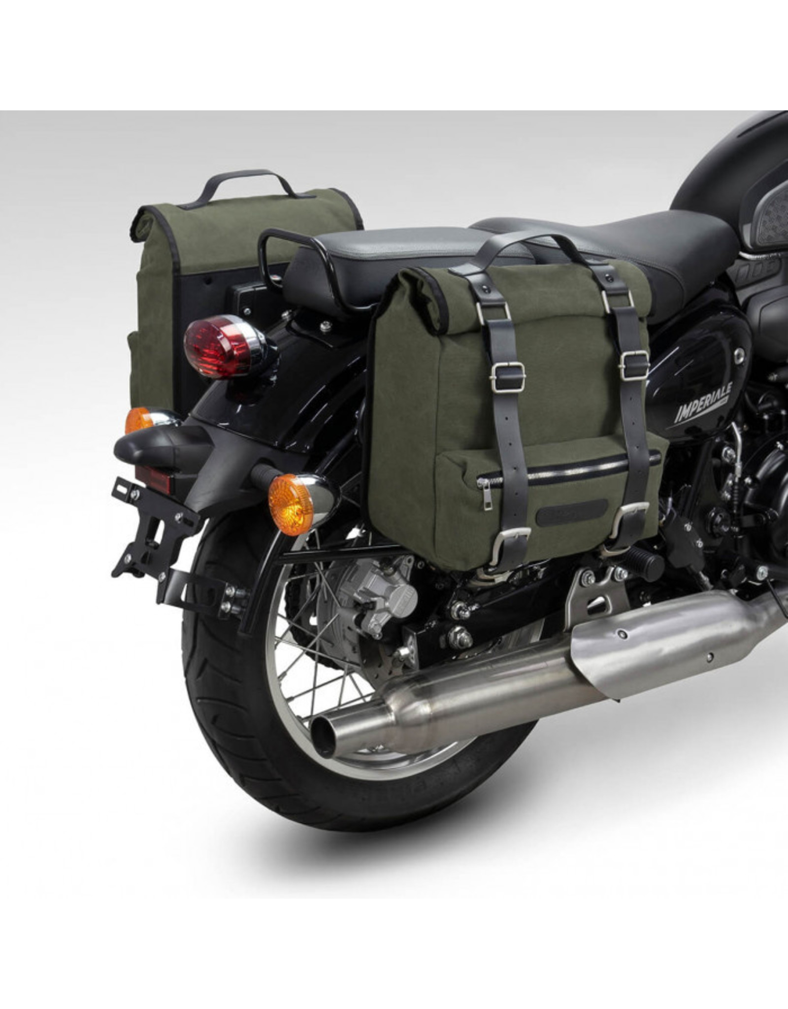 Benelli BENELLI CANVAS SIDE BAGS  + CARRIERS- MILITARY GREEN BEIMP400-CBM