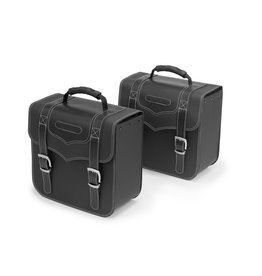 Benelli BENELLI SIDE BAGS  + CARRIERS - BLACK LEATHER BEIMP400LBB