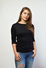 Khipu Black Basic 3/4 Sleeve Shirt
